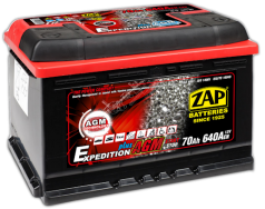 Akumulator ZAP AGM Expedition Plus 70Ah